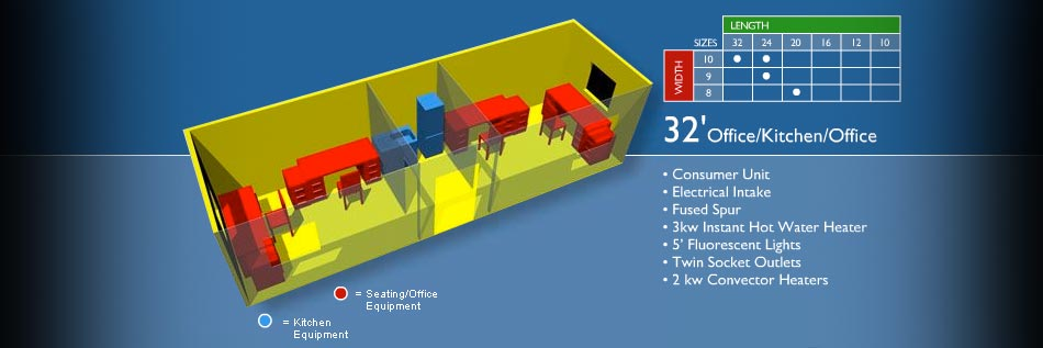 Configurations Office With Kitchen Portable Modular