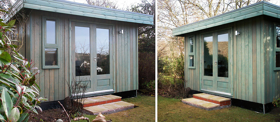 Garden offices portable modular buildings av danzer for Portable garden room