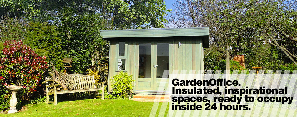 Garden offices, insulated and inspirational spaces