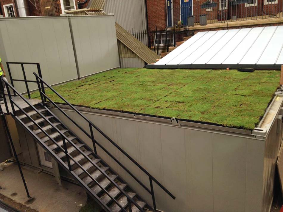Green Sedum Roof System Former London Fire Brigade Station Knightsbridge